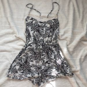 Floral and lace romper from Anthro
